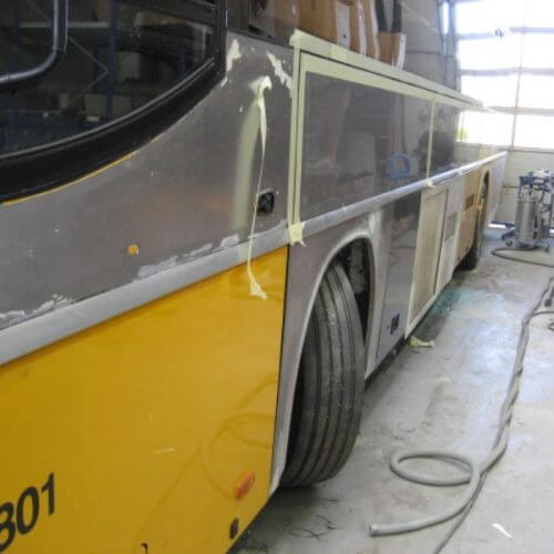 bus skade reparation