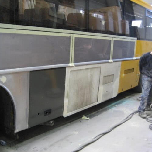 bus skade reparation 1