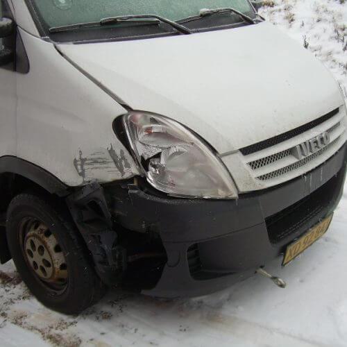 skade på varevogn