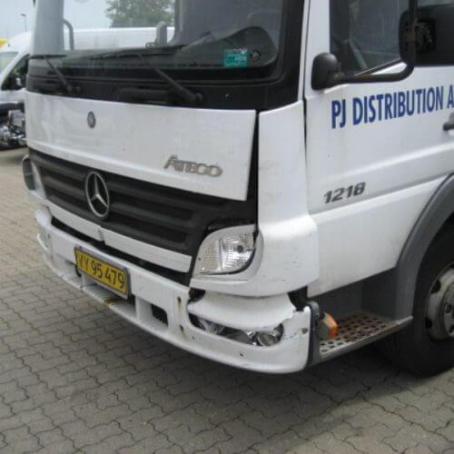 lastbil skade